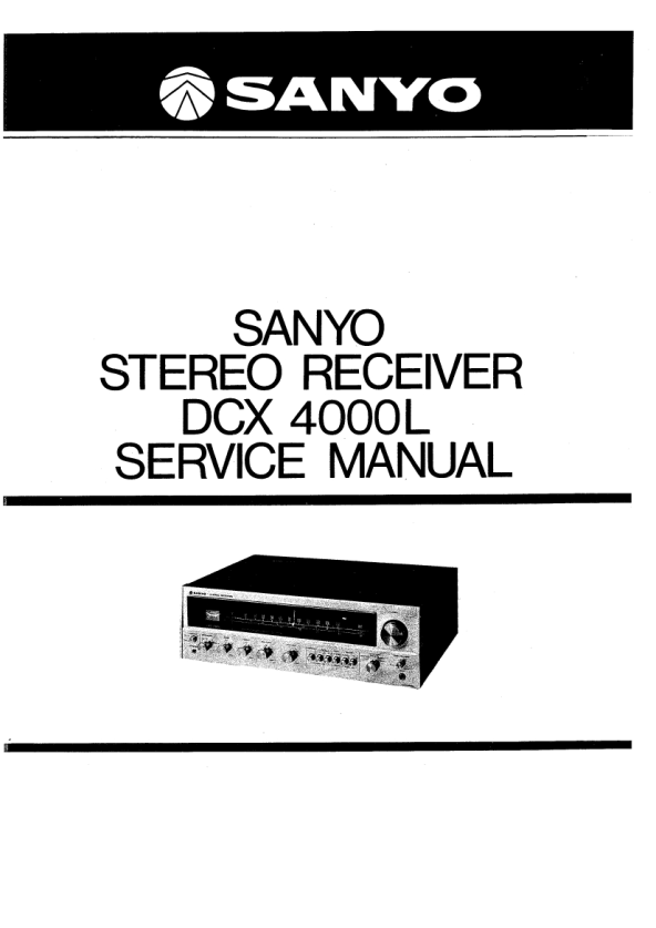 Download SANYO DCX4000L Service Manual