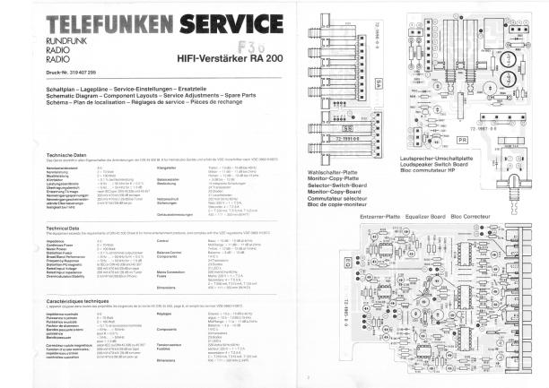 Download TELEFUNKEN RA200 Service Manual