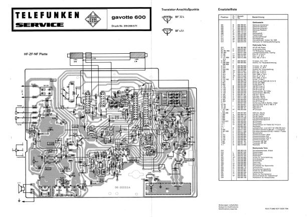 Download TELEFUNKEN GAVOTTE 600 Service Manual