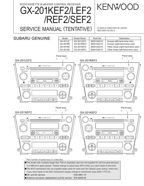 Download Kenwood Gx 201lef2 Service Manual